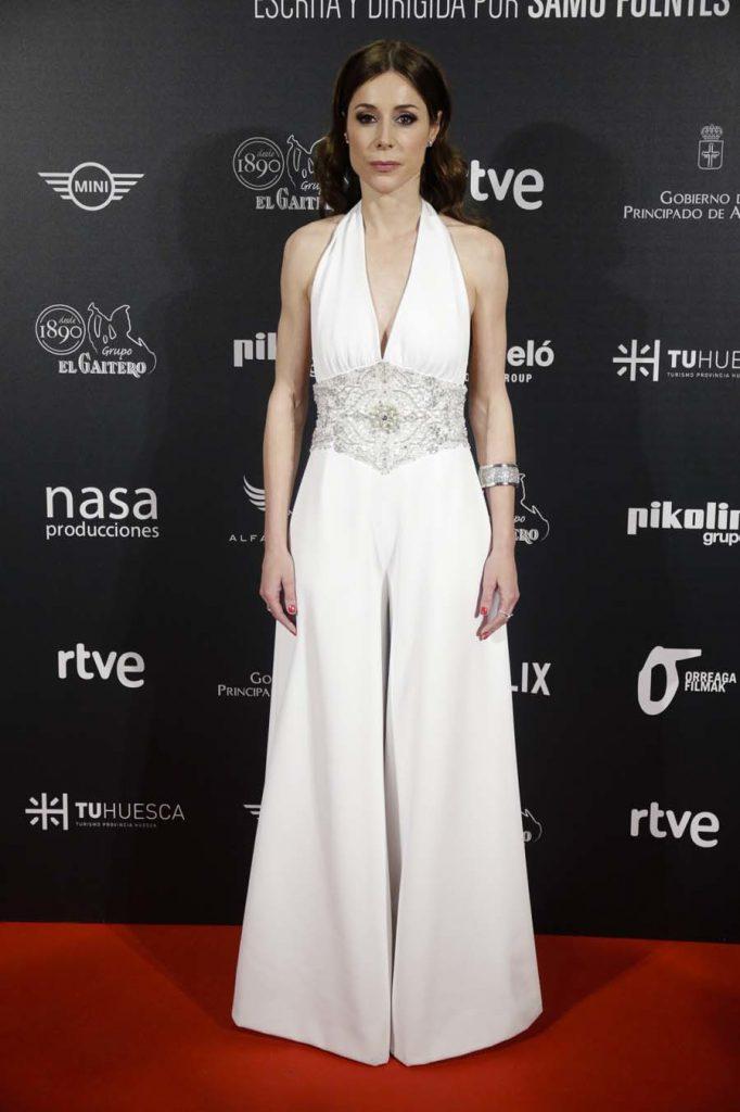 """La actriz Ruth Díaz durante la premiere de la película """" bajo la piel del lobo  """" en Madrid  08/03/2018"""