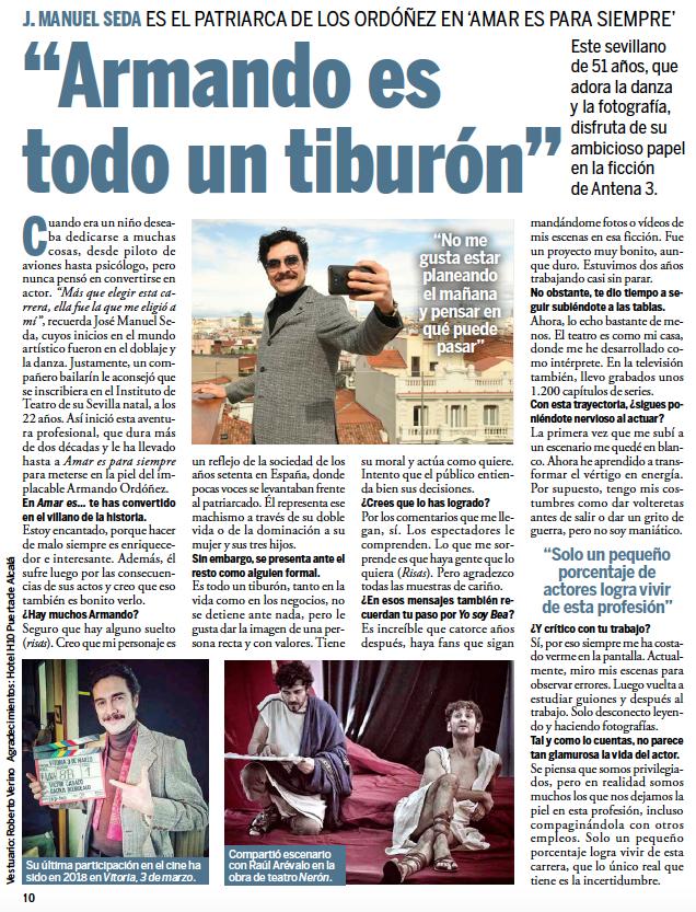 Entrevista José Manuel Seda - Telenovela